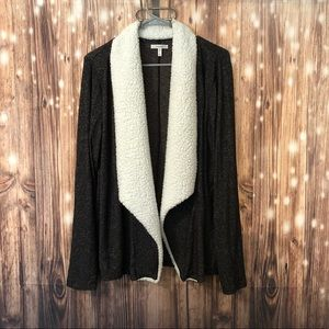 Maurices Faux Fur Collared Cardigan